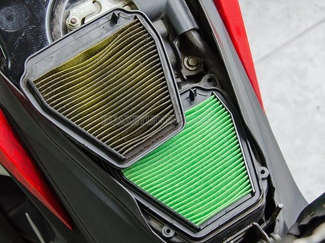 vị trí lọc gió xe máy