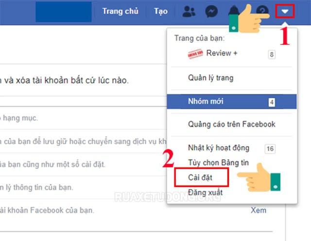 thiết lập tin nhắn trên fb